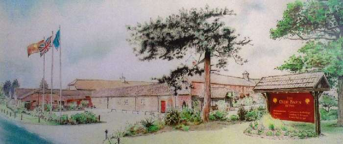 The Olde Barn Hotel, (Pen, Ink and Pencil Crayon)